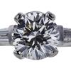 1.19 ct. Round Cut 3 Stone Ring, H, VS2 #2