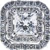 1.04 ct. Princess Cut Halo Ring, F, SI1 #4