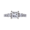 1.01 ct. Princess Cut 3 Stone Ring, G, VS1 #3