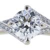 0.91 ct. Round Cut Bridal Set Ring, G, I1 #4