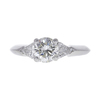 1.04 ct. Round Cut 3 Stone Ring, J, SI2 #3