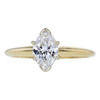 0.99 ct. Marquise Cut Solitaire Ring, D, SI1 #3