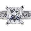 1.01 ct. Princess Cut Solitaire Ring, E, VVS2 #4