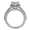 2.17 ct. Cushion Cut Halo Ring, E, SI2 #3