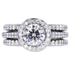 1.03 ct. Round Cut Bridal Set Ring, E, SI1 #3