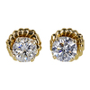 Round Cut Stud Earrings, H-I, I2 #2
