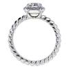 1.40 ct. Cushion Cut Bridal Set Ring #3