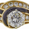 2.52 ct. Round Cut Central Cluster Ring, J, SI2 #4