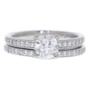0.78 ct. Cushion Cut Bridal Set Ring, E, SI1 #3
