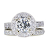 1.29 ct. Round Cut Bridal Set Ring #3
