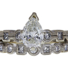 1.0 ct. Pear Cut Bridal Set Ring, J, SI1 #4