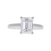 1.8 ct. Emerald Cut Solitaire Ring, F, VVS1 #3