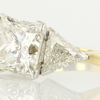 4.54 ct. Princess Cut 3 Stone Ring #2