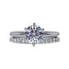1.03 ct. Round Cut Bridal Set Ring, F, VS1 #3