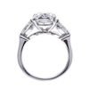 3.7 ct. Cushion Cut 3 Stone Ring, E, VVS2 #4
