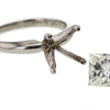 2.03 ct. Princess Cut Solitaire Ring #4