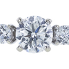 1.00 ct. Round Cut Bridal Set Ring, G, VS2 #4