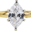 0.91 ct. Marquise Cut Solitaire Ring, G, VVS1 #4