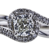 1.00 ct. Cushion Cut Halo Ring, I, SI1 #4