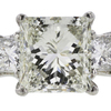 2.00 ct. Princess Cut 3 Stone Ring, J, SI1 #1