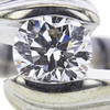 0.71 ct. Round Cut Bridal Set Ring, F-G, SI1 #1