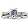 1.12 ct. Emerald Cut Bridal Set Ring, I, I1 #3
