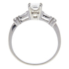 1.03 ct. Emerald Cut Solitaire Ring, H, SI2 #4