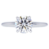 1.00 ct. Round Cut Solitaire Ring, H, VS1 #1