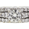 0.98 ct. Round Cut Bridal Set Ring, L, SI2 #4