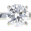 0.84 ct. Round Cut Solitaire Ring, H, SI2 #4
