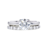 1.02 ct. Round Cut Bridal Set Ring, G, VS2 #3