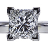 1.20 ct. Princess Cut Solitaire Ring, F, VS1 #4
