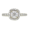 0.73 ct. Round Cut Bridal Set Ring, F, SI2 #3