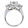 2.09 ct. Round Cut 3 Stone Ring, E, VS2 #2