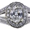 0.75 ct. Oval Cut Bridal Set Ring, G, SI2 #2