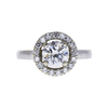 1.03 ct. Round Cut Halo Ring, H, SI1 #3
