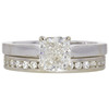 1.0 ct. Cushion Cut Bridal Set Ring, K, VS1 #3