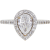1.0 ct. Pear Cut Halo Ring, F, SI2 #2