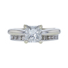 1.03 ct. Princess Cut Bridal Set Ring, G, SI2 #4