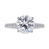 3.14 ct. Round Cut Solitaire Ring #3