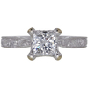 0.96 ct. Princess Cut Central Cluster Ring, E, SI2 #3
