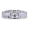 0.85 ct. Princess Cut Solitaire Ring, I-J, VVS1-VVS2 #2