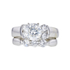 1.45 ct. Round Cut Bridal Set Ring, J, SI2 #3