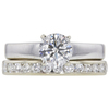 1.0 ct. Round Cut Bridal Set Ring, G, SI2 #3