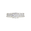1.09 ct. Round Cut Bridal Set Ring, D, I1 #3
