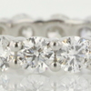 Round Cut Eternity Band Ring #1