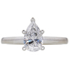 1.01 ct. Pear Cut Solitaire Ring, D, I1 #3