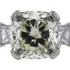 1.76 ct. Cushion Cut Bridal Set Ring, M, VS1 #4