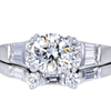 1.02 ct. Round Cut Bridal Set Ring, H, SI2 #3