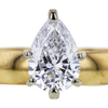 1.07 ct. Pear Cut Bridal Set Ring, D, SI1 #4